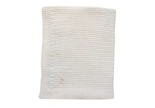 Mies & Co Mies & Co  Soft knitted wieg deken offwhite