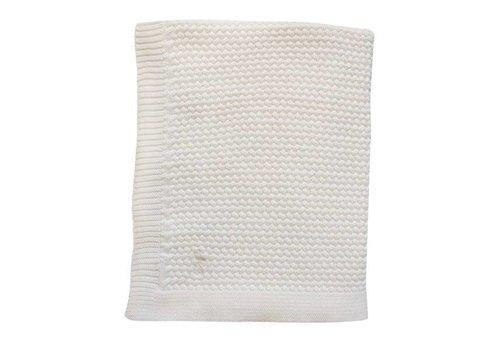 Mies & Co Mies & Co Soft knitted ledikant deken Offwhite