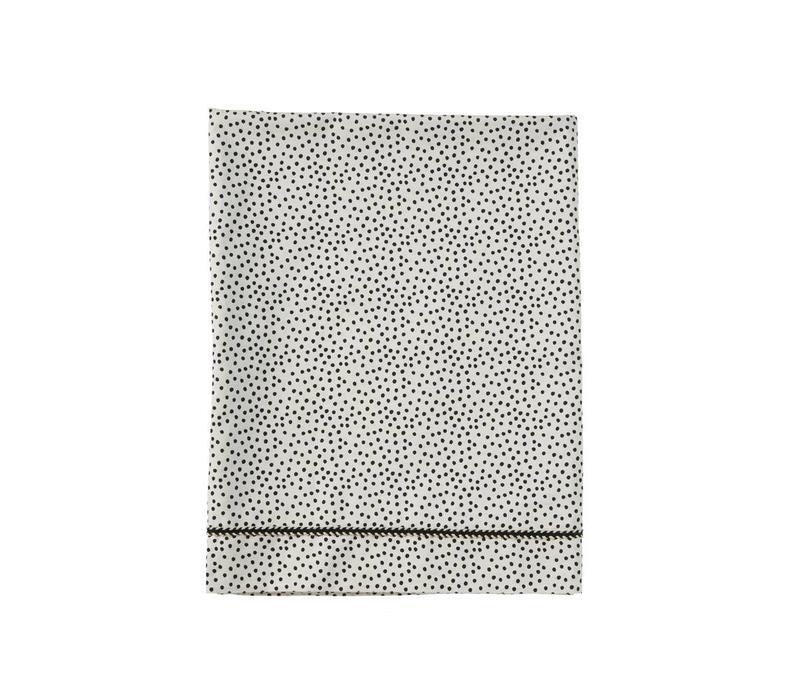 Mies & Co Wieg laken Cozy dots offwhite