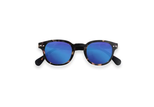 Izipizi Izipizi zonnebril #C tortoise soft blue mirror lenses