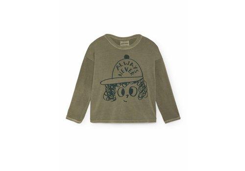 Bobo Choses Bobo choses T-shirt always never round neck green/black