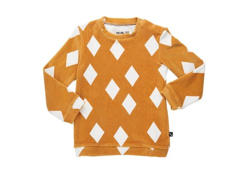 CarlijnQ CarlijnQ Sweater diamonds ochre