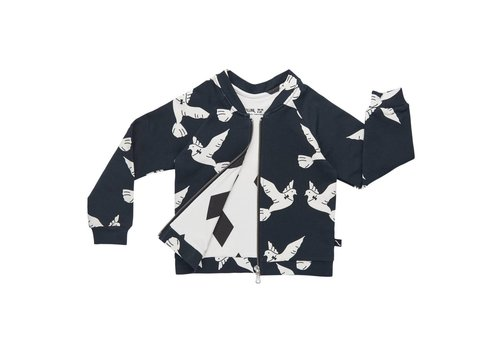 CarlijnQ CarlijnQ Bomber jacket love birds (diamonds black)