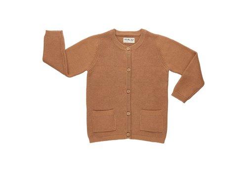 CarlijnQ CarlijnQ Cardigan + pockets knit caramel