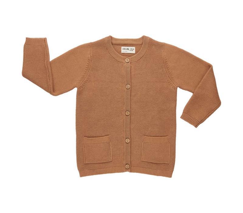 CarlijnQ Cardigan + pockets knit caramel