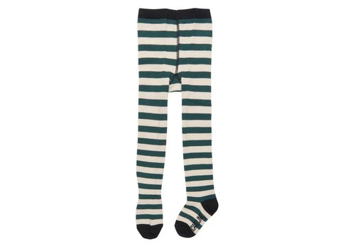CarlijnQ CarlijnQ Tights stripes (green - off white)