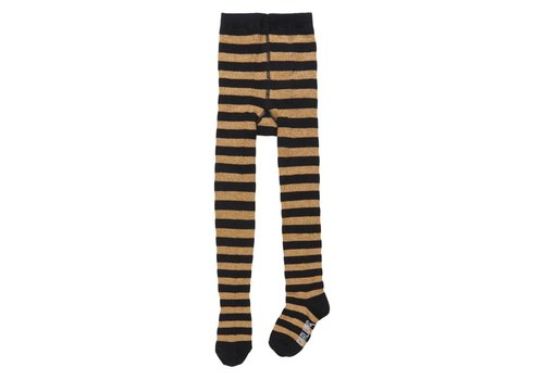 CarlijnQ CarlijnQ Tights stripes (black - gold)