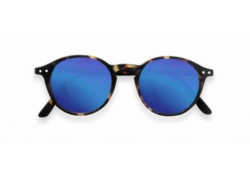 Izipizi izipizi zonnebril #D tortoise blue mirror lenses