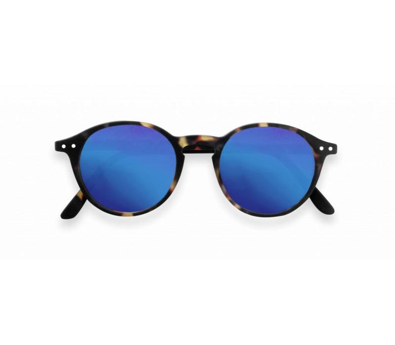 izipizi zonnebril #D tortoise blue mirror lenses