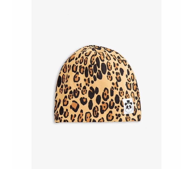 Mini Rodini Leopard baby beanie