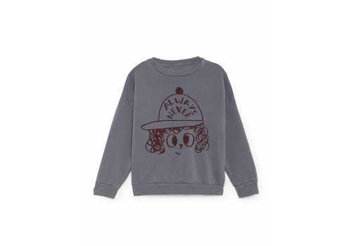 Bobo Choses Bobo Choses Sweatshirt always never grey/red