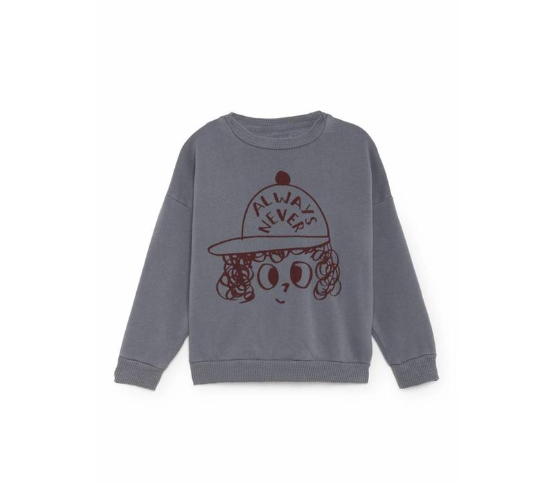 Bobo Choses Sweatshirt always never grey/red