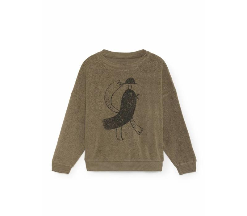 Bobo Choses Sweatshirt bird sheepskin