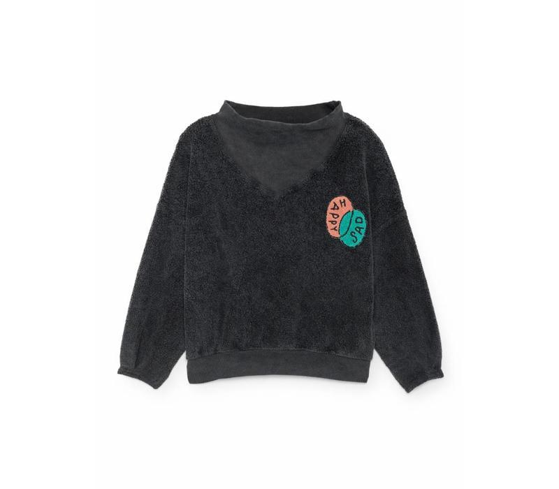 Bobo Choses Sweatshirt happy sad rib collar