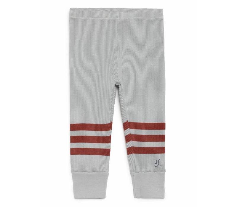 Bobo Choses Leggings grey/red stripes