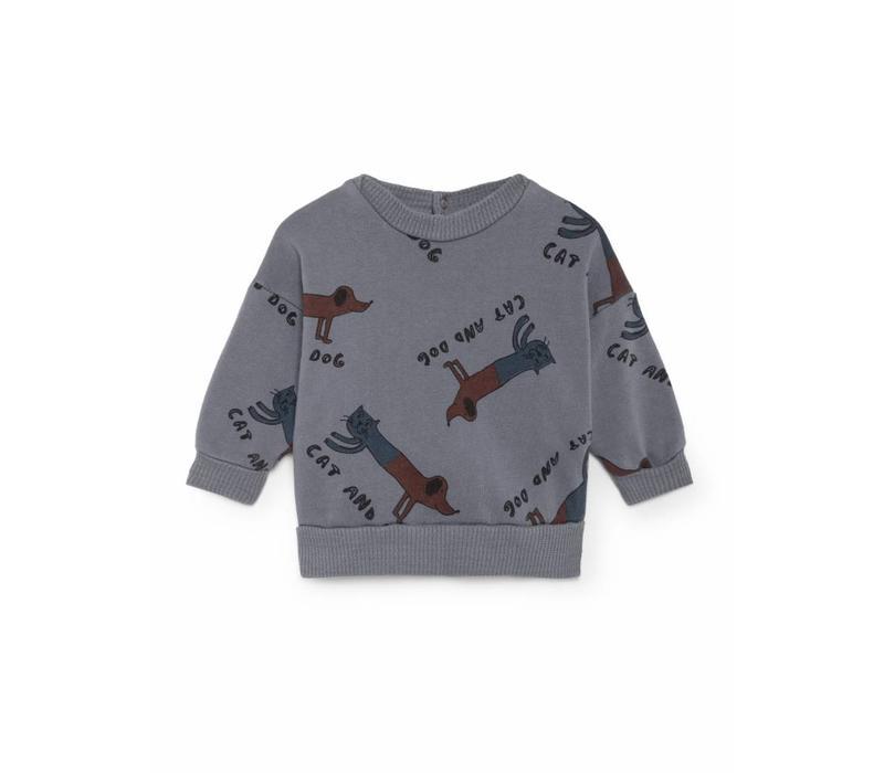 Bobo Choses Sweatshirt cats and dogs aop