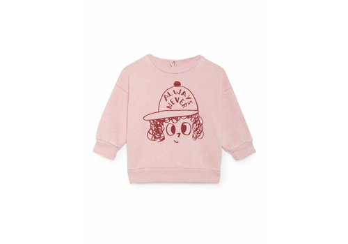 Bobo Choses Bobo Choses Sweatshirt pink/red always never