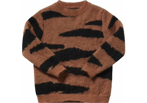 Maed for mini Maed for mini Knit sweater brown tiger
