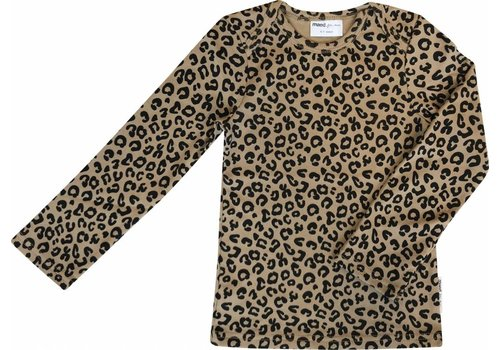 Maed for mini Maed for mini Longsleeve t-shirt brown leopard aop