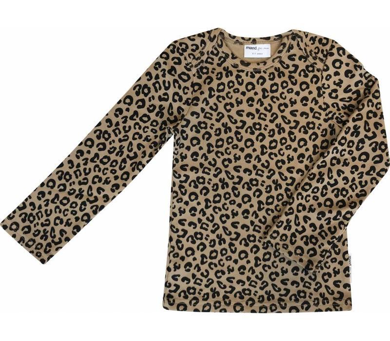 Maed for mini Longsleeve t-shirt brown leopard aop