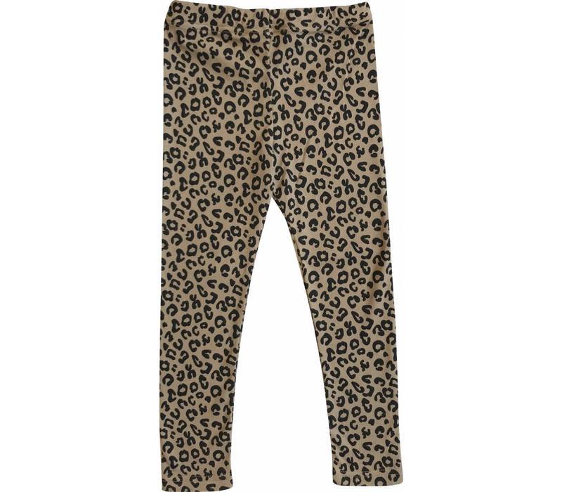 Maed for mini Legging brown leopard aop