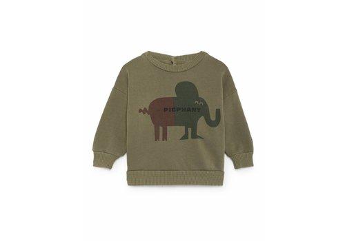Bobo Choses Bobo Choses Sweater pigphant green