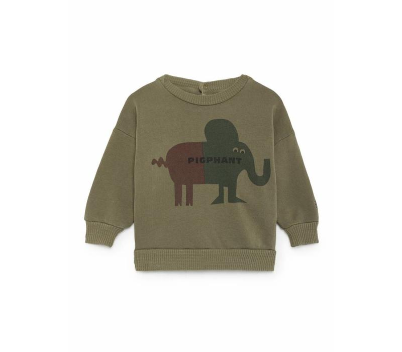 Bobo Choses Sweater pigphant green