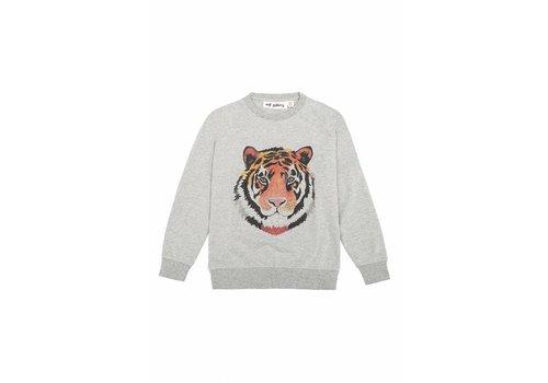 Soft gallery Soft Gallery Sweatshirt tiger art grey melange