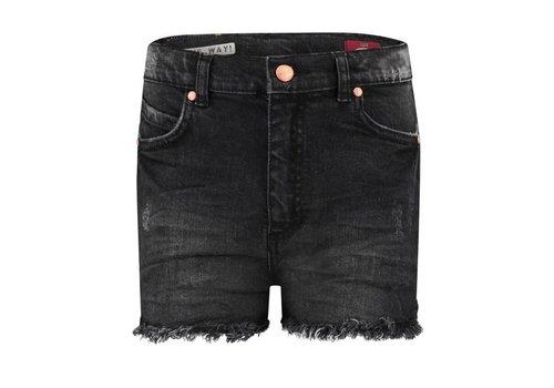 Boof Boof short jeans lux girls grey/black