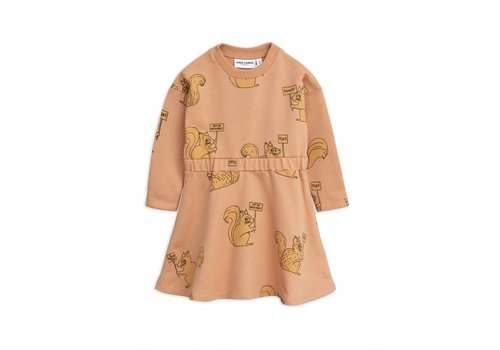 Mini Rodini Mini Rodini dress squirrel beige
