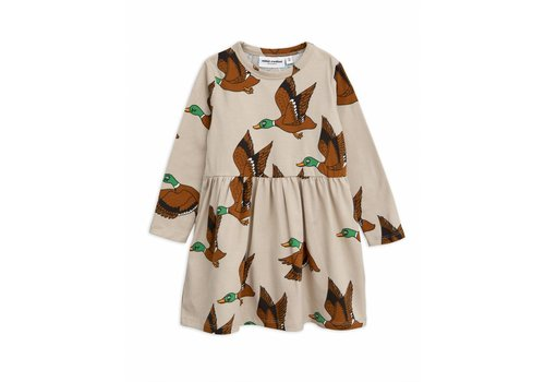 Mini Rodini Mini Rodini dress ducks beige