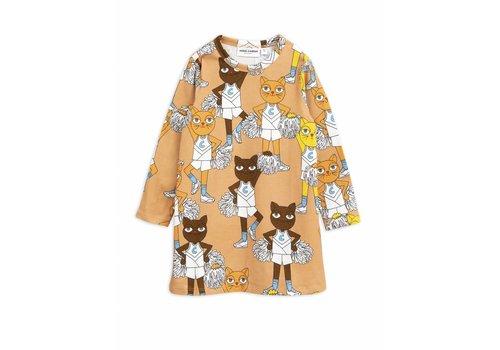 Mini Rodini Mini Rodini dress cheercats beige