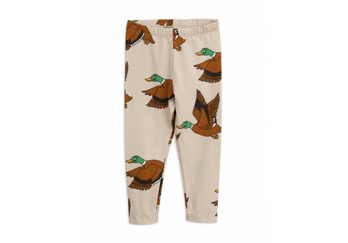 Mini Rodini Mini Rodini legging ducks beige