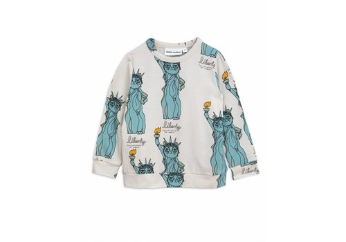 Mini Rodini Mini Rodini longsleeve liberty light grey