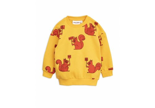 Mini Rodini Mini Rodini sweatshirt squirrel yellow