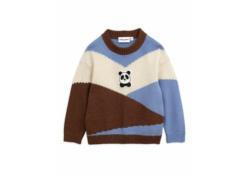 Mini Rodini Mini Rodini panda knitted wool pullover brown