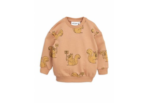 Mini Rodini Mini Rodini sweatshirt squirrel beige