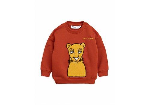 Mini Rodini Mini Rodini sweatshirt cat patch red