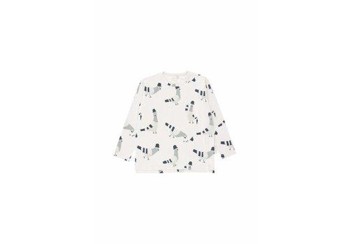 Tiny Cottons Tiny Cottons Longsleeve pigeons beige/light grey/navy