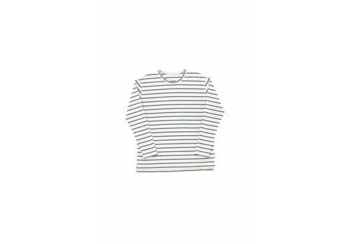Tiny Cottons Tiny Cottons longsleeve small stripes light grey/ dark green