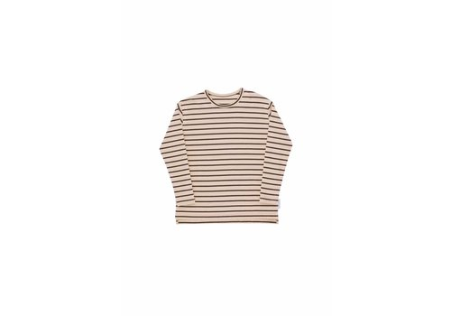 Tiny Cottons Tiny Cottons longsleeve small stripes nude/plum