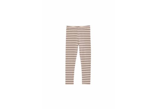 Tiny Cottons Tiny Cottons small stripes pant nude/plum