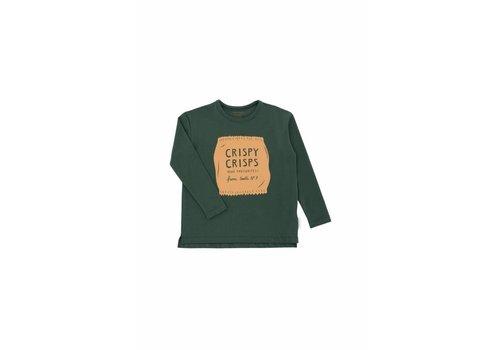 Tiny Cottons Tiny Cottons graphic tee crispy crisps dark green/nude