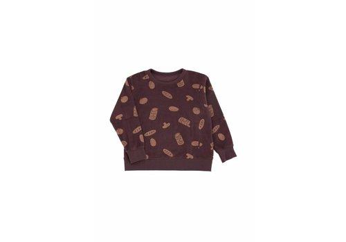 Tiny Cottons Tiny Cottons sweatshirt groceries towel plum/terracotta