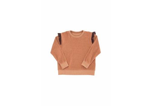 Tiny Cottons Tiny Cottons sweatshirt towel frills terracotta/plum
