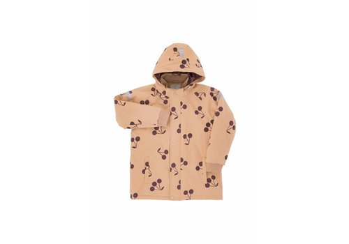 Tiny Cottons Tiny Cottons snow jacket big cherries dark nude/plum