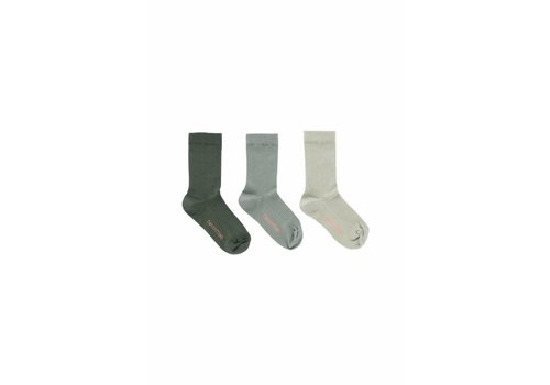 Tiny Cottons Tiny Cottons socks pack of 3 dark green/pistacho