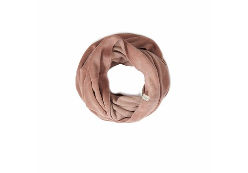 Phil & Phae Phil & Phae Adult infinity scarf velvet dusty blush