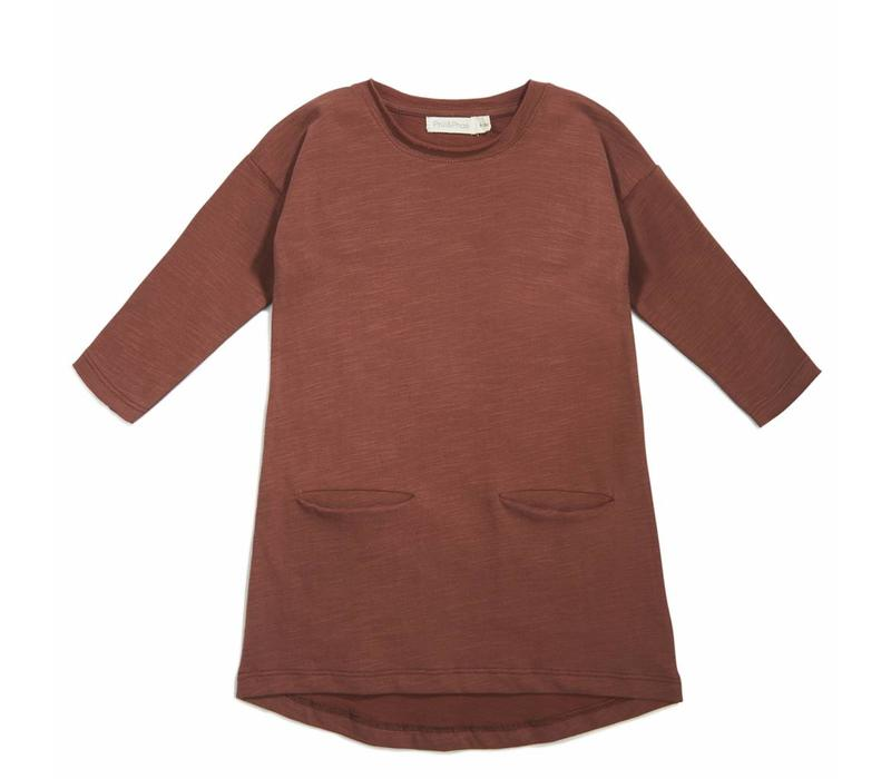 Phil & Phae Pocket dress russet