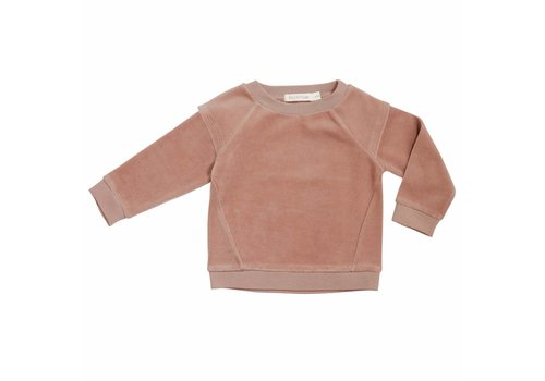Phil & Phae Phil & Phae  Epaulette sweater velvet dusty blush